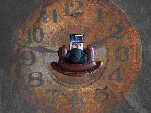 Travail sol horloge