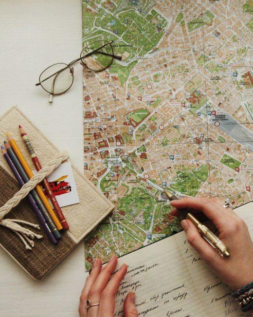 Planification sur une carte