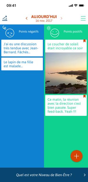 Capture d'écran de l'application Smylife