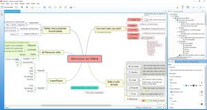 Interface du logiciel Xmind