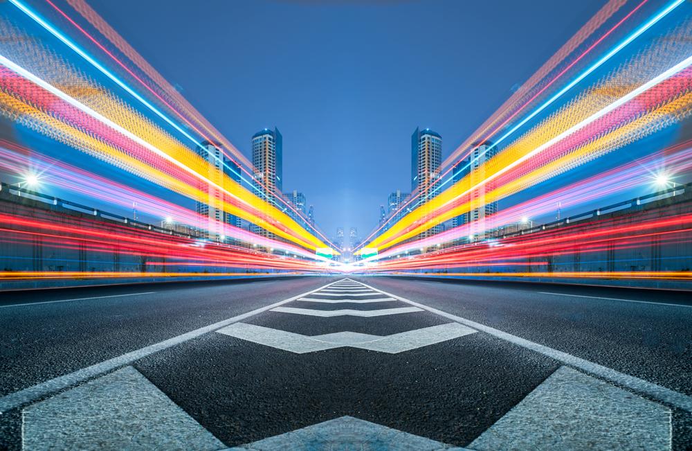 lumières multicolores dans la ville