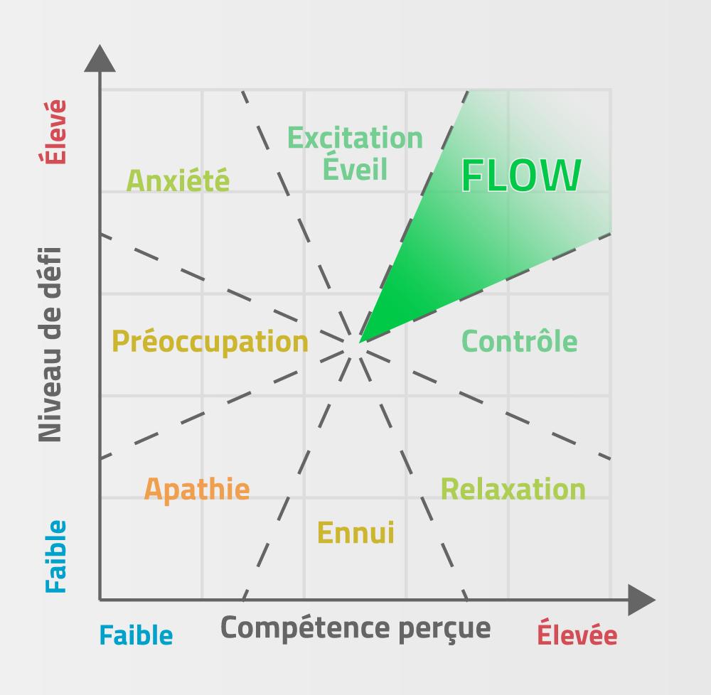 Représentation graphique du flow