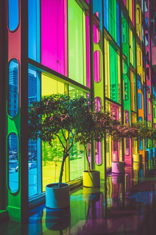 Vitrage de couleur