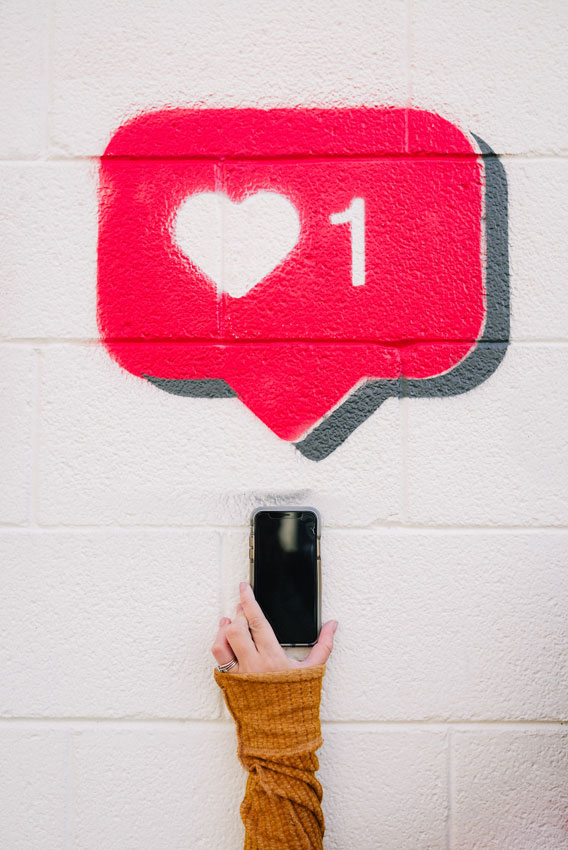 """Photo de tag représentant un """"j'adore"""" sur Facebook"""