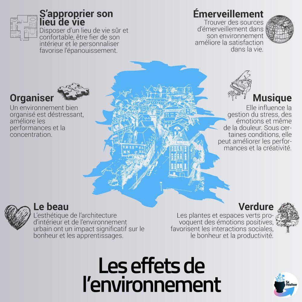 Résumé des effets de l'environnement sous forme graphique