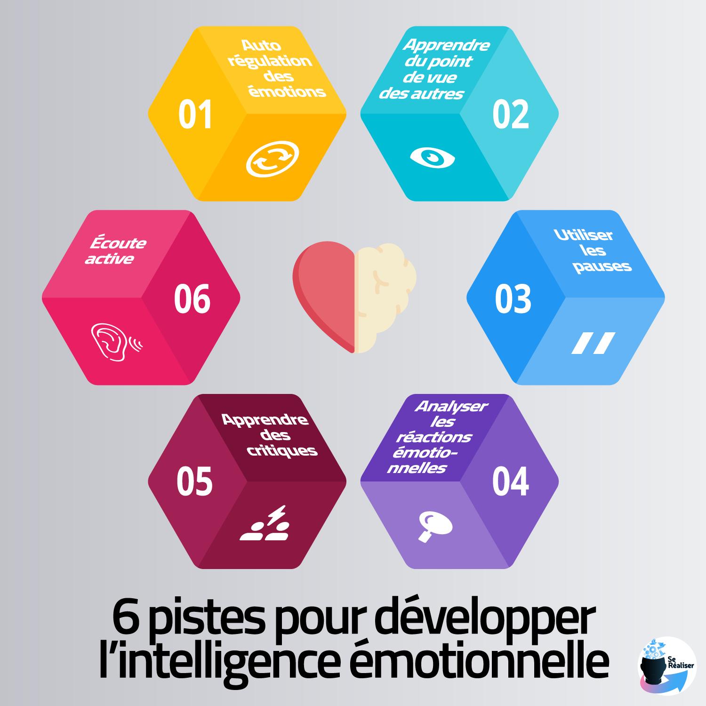 Résumé des 6 pistes pour développer l'intelligence émotionnelle